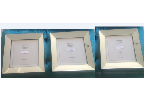 Set van 3 - fotolijsten 40x40 cm - zilver