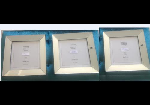 Set van 3 - spiegellijsten fotolijsten 40x40 cm - zilver