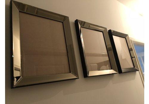 Set van 3 - spiegellijsten fotolijsten 50x50 cm - brons