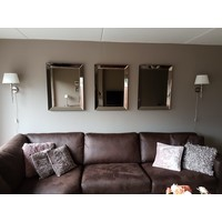 Spiegel met spiegelrand - brons 60x80 cm