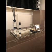 Spiegeldienblad zilver 57x37 cm - voordeelset