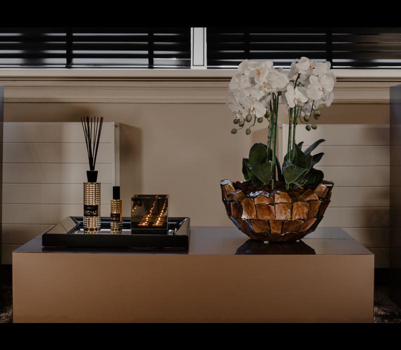 Spiegeldienblad brons 50x50 cm - voordeelset