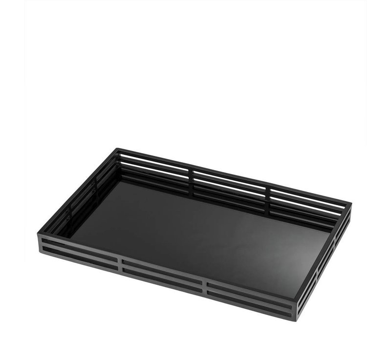 EICHHOLTZ Giacomo dienblad zwart - voordeelset  zilver