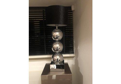 SETPRIJS 2x Lamp met 3 bollen - vierkante voet - chroom - Copy