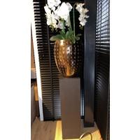 Pot brons/goud/bruin S - 44x55 cm  met orchideeën