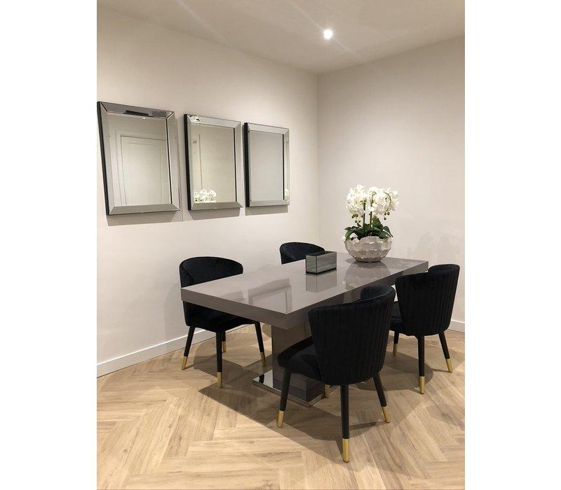 Voordeelset van 3 Spiegels met spiegelrand 60x80 cm - zilver - Eric Kuster stijl