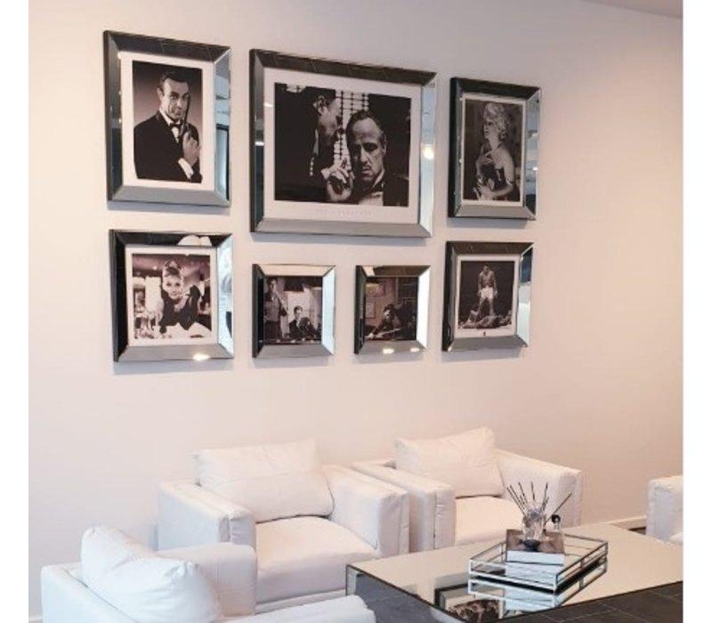 Spiegellijst James Bond Sean Connery  - zilver 50x60