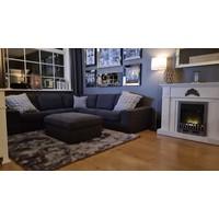 Set van 5 - sfeerhaard met spiegellijsten fotolijsten zilver - Eric Kuster stijl