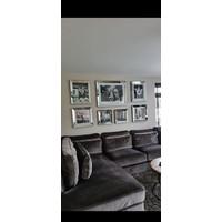 Voordeelset spiegellijsten - 7 fotolijsten met posters zilver