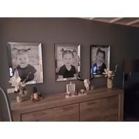 Voordeelset spiegellijsten - 3 fotolijsten zilver 60x80