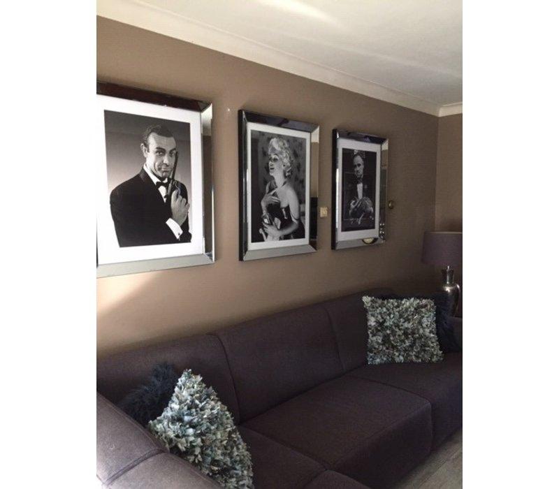 Fotolijst Marilyn Monroe Chanel No 5- zilver 70x90