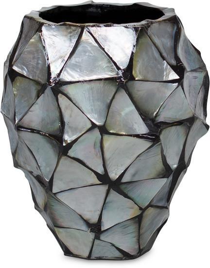 Schelpenvaas zilver