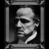 Spiegellijst  Marlon Brando Godfather Face  - zilver 50x60