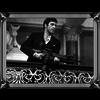 Spiegellijst Scarface with machinegun verticaal - zilver 50x60
