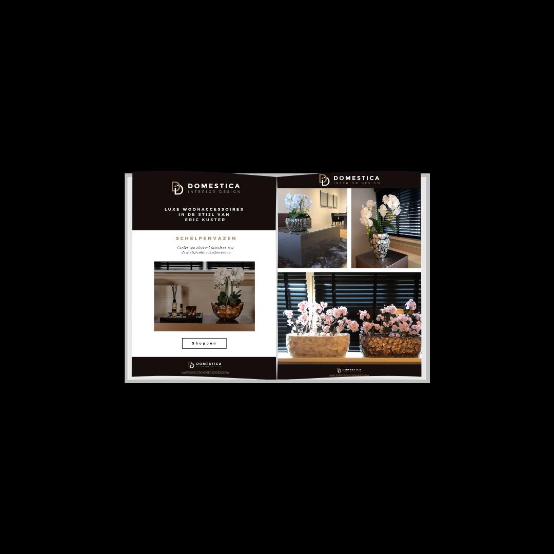 Schelpenvazen inspiratie brochure - Domestica Interior Design