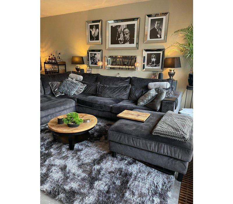 Luxe velours fluweel vloerkleed - Wolf grey - N23 - - 290 x 200 cm