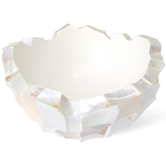Schelpenvaas pearl white wit