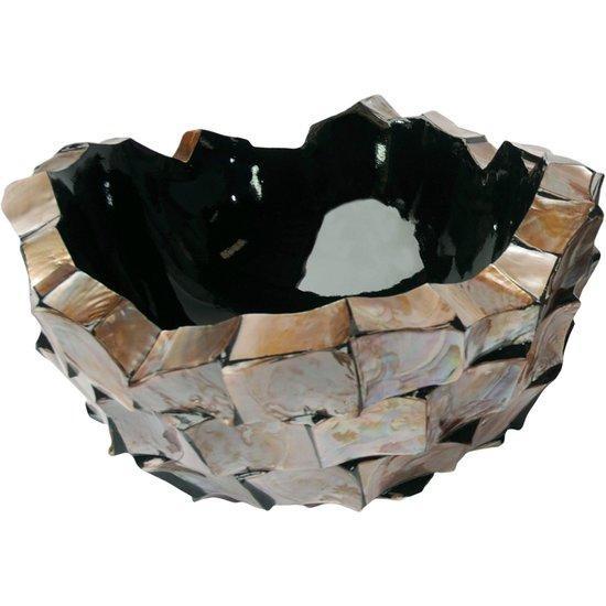 Schelpenvaas bowl bruin rose - Eric Kuster stijl