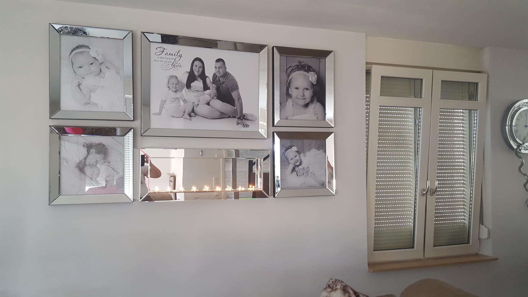 Voordeelset spiegellijsten met sfeerhaard