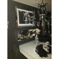 Sfeerhaard met spiegelfotolijst - zilver