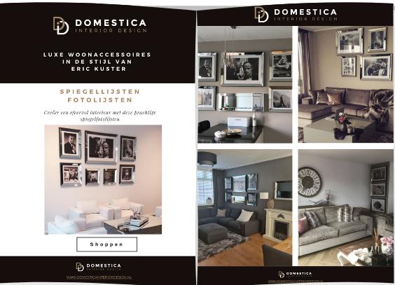 Spiegellijsten fotolijsten brochure - Domestica Interior Design