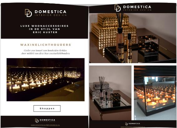 Waxinelichthouders brochure - Domestica Interior Design