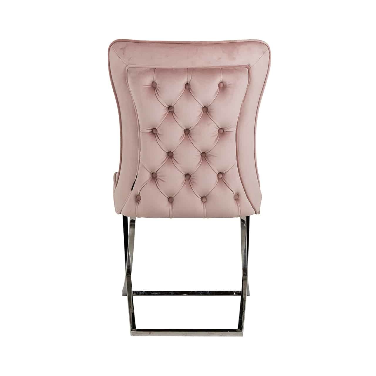 Richmond eetkamerstoel Scarlett pink roze