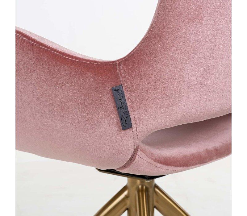 Richmond Sierra blush pink velvet eetkamerstoel - roze