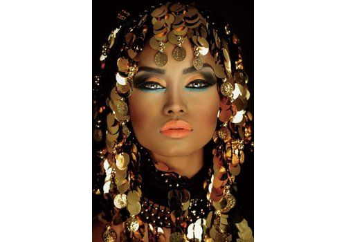 Glasschilderij- Arabian Princess 160x110 cm