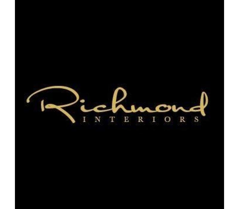 Richmond Indigo Stone black velvet eetkamerstoel - bruin