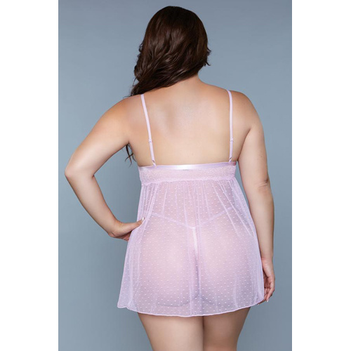 Be Wicked Hailey Babydoll - Plus Size - Lavendel