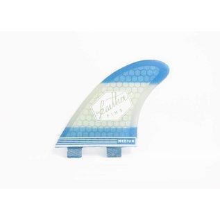 Featherfins Ultralight dual tab F1 blue - small