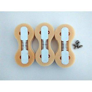 DRB FCS Fusion finbox white - 5 graden set