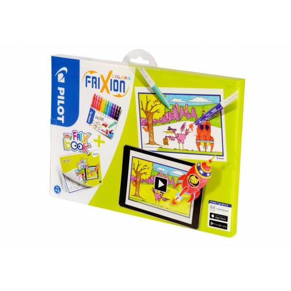 Pilot Pen Pilot Fasermaler Frixion Color 12er Etui + My FriX Book