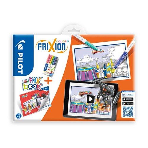 Pilot Pen Pilot Fasermaler Frixion Color 6er Etui + My FriX Book