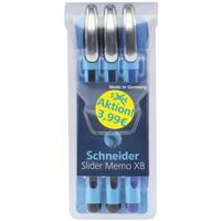 Schneider Schreibgeräte Schneider 3er-Etui Kugelschreiber Slider Memo XB