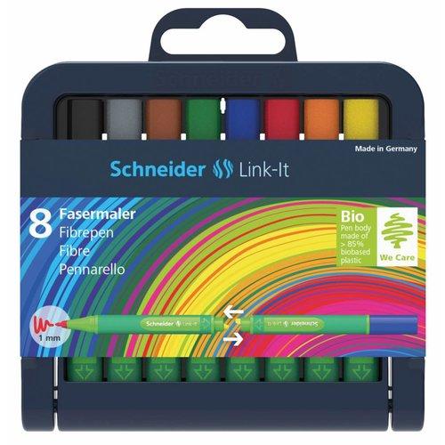 Schneider Schreibgeräte Schneider 8er-Stiftebox Fasermaler Link-It, farbig sortiert