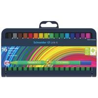 Schneider Schreibgeräte Schneider 16er-Stiftebox Fasermaler Link-It, farbig sortiert