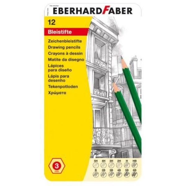 Eberhard Faber Eberhard Faber Zeichenbleistifte 12er Blech