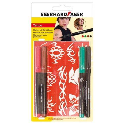 "Eberhard Faber Eberhard Faber Tattoo Marker ""Beach"" 4er Set"