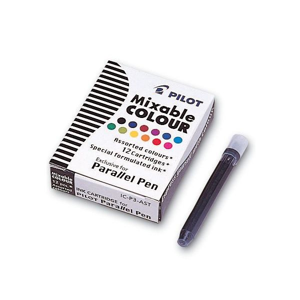 Pilot Pen Pilot Tintenpatrone Parallel Pen 12 verschiedene Farben