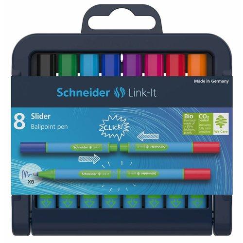 Schneider Schreibgeräte Schneider Kugelschreiber Slider Link-it 8er Stiftebox