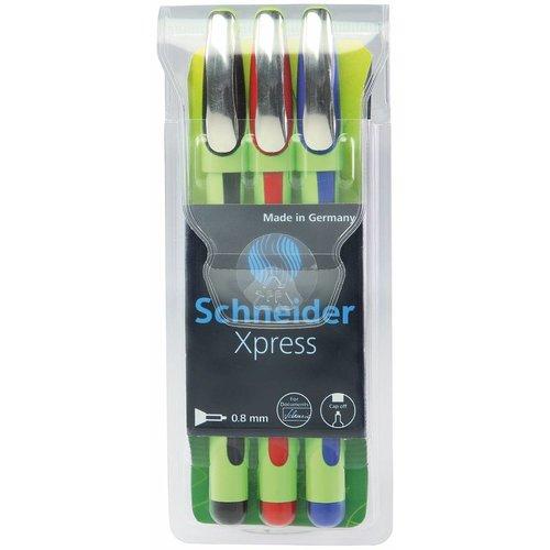 Schneider Schreibgeräte Schneider Fineliner Xpress 3er-Etui
