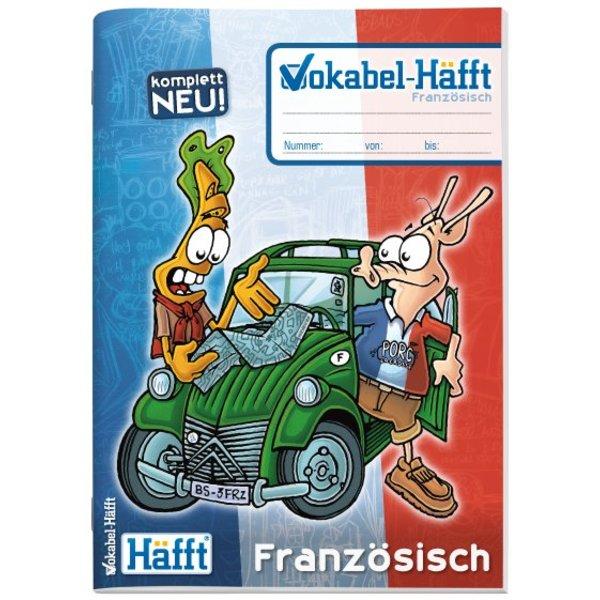 Häfft Verlag Vokabel-Häfft Französisch erhältlich in A6, A5, A4