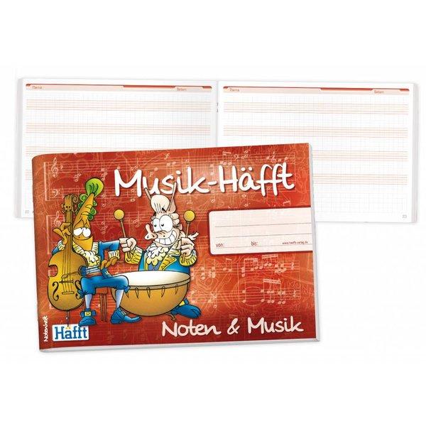 Häfft Verlag Musik-Häfft erhältlich in A6, A5, A4