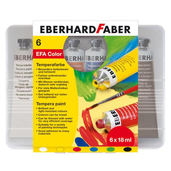 Eberhard Faber Eberhard Faber Tempera Tuben 6er-Etui 18 ml