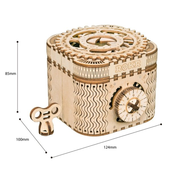 """ROKR ROKR 3D-Holz-Puzzle Schatztruhe """"Treasure Box"""""""