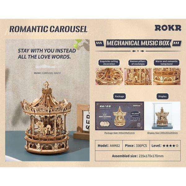 """ROKR ROKR 3D-Holz-Puzzle """"Romantic Carousel"""""""