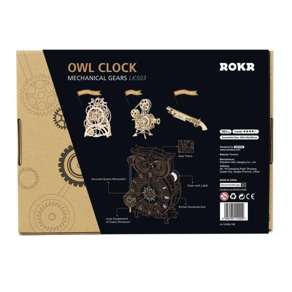 "ROKR ROKR 3D-Holz-Puzzle ""Owl Clock"""