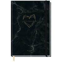Häfft Verlag Häfft Trendstuff Journal Classic Marble Heart / A5 / gepunktet